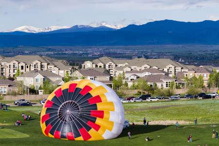 Annual hot air balloon festival in Erie, Colorado. Stock Photo - 19652465
