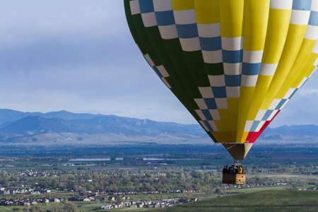 Annual hot air balloon festival in Erie, Colorado. Stock Photo - 19652452