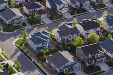 suburbs: Typical american suburban development.