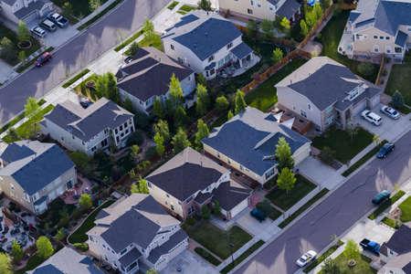 Typical american suburban development. Stock Photo - 19679888