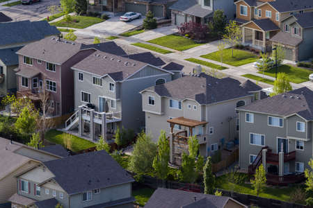 Typical american suburban development. Stock Photo - 19679878