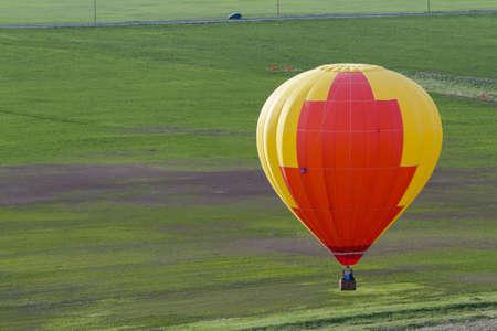 Annual hot air balloon festival in Erie, Colorado.