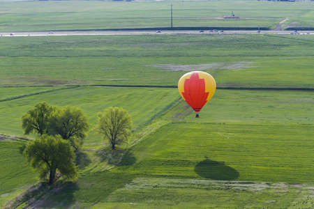 Annual hot air balloon festival in Erie, Colorado. photo