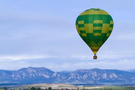 Annual hot air balloon festival in Erie, Colorado. photo