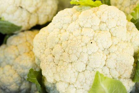 caulis: Fresh produce on sale at the local farmers market.