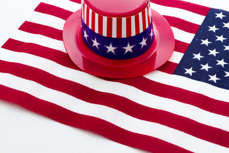 Patriotic items to celebrate July 4th. Stock Photo - 19864254