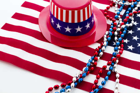 Patriotic items to celebrate July 4th. Stock Photo - 19864261