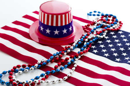 Patriotic items to celebrate July 4th. Stock Photo - 19864258