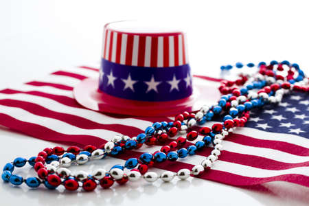 Patriotic items to celebrate July 4th. Stock Photo - 19864244