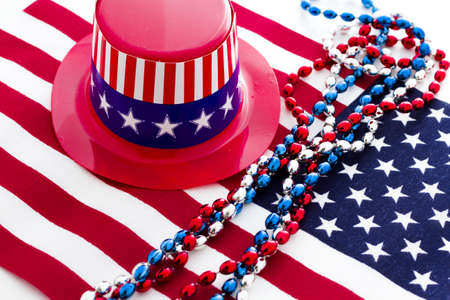 Patriotic items to celebrate July 4th. Stock Photo - 19864267