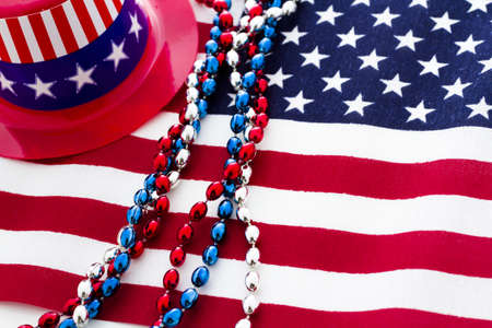 Patriotic items to celebrate July 4th. Stock Photo - 19864266