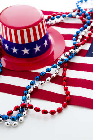 Patriotic items to celebrate July 4th. Stock Photo - 19864250