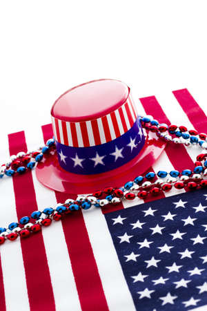 Patriotic items to celebrate July 4th. Stock Photo - 19864226