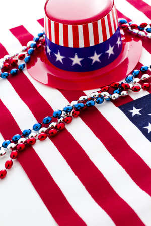 Patriotic items to celebrate July 4th. Stock Photo - 19864248