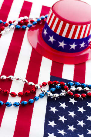 Patriotic items to celebrate July 4th. Stock Photo - 19864257