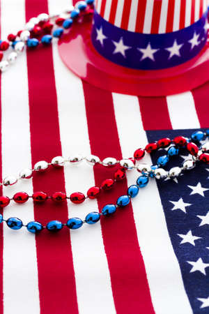 Patriotic items to celebrate July 4th. Stock Photo - 19864246
