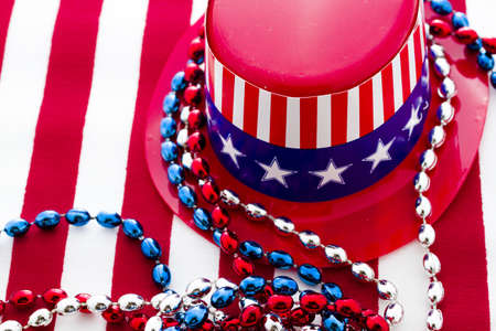 Patriotic items to celebrate July 4th. Stock Photo - 19864253