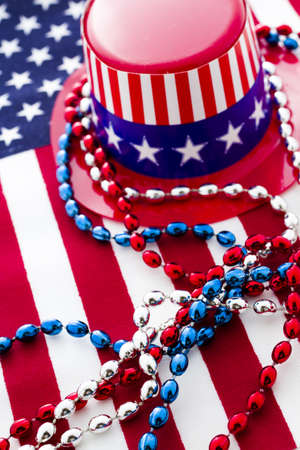 Patriotic items to celebrate July 4th. Stock Photo - 19864262