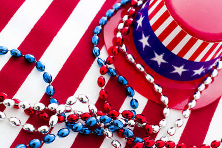 Patriotic items to celebrate July 4th. Stock Photo - 19864260