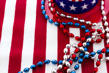 Patriotic items to celebrate July 4th. Stock Photo - 19864255