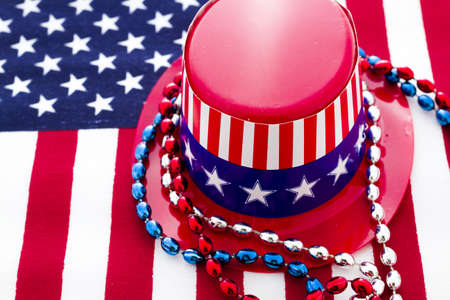 Patriotic items to celebrate July 4th. Stock Photo - 19864256