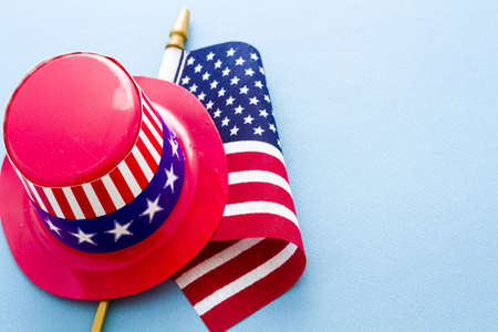 Patriotic items to celebrate July 4th. Stock Photo - 19928964