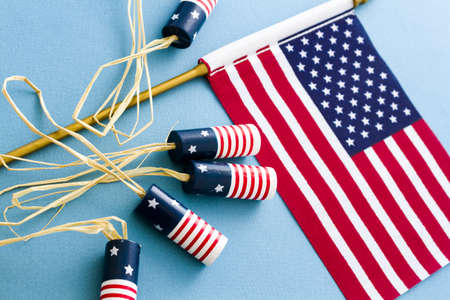 Patriotic items to celebrate July 4th. photo