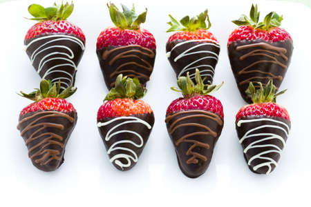 dipped: Chocolate dipped strawberries at dessert bar.
