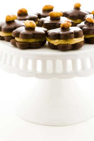Mini peanut butter cookie tartes at dessert bar.