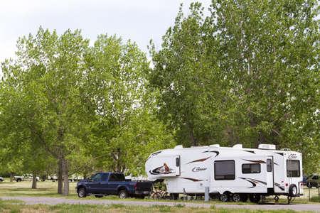 motorhome: Luxury camping in motorhome.