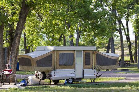 Luxury camping in motorhome.