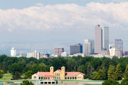 denver city park: A view of downtown Denver from City Park.