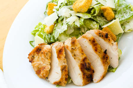 cubed: Gourmet caesar salad with grilled chicken croutons.