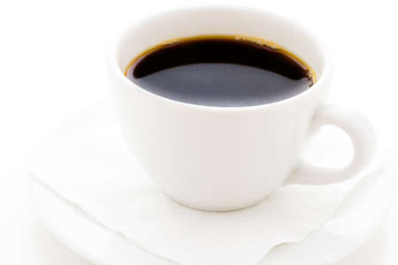 energizing: Black coffee in white on a white background.
