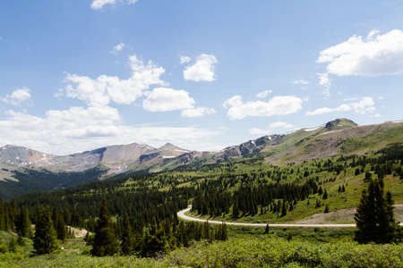 View from the top of Cottonwood Pass, Colorado. photo