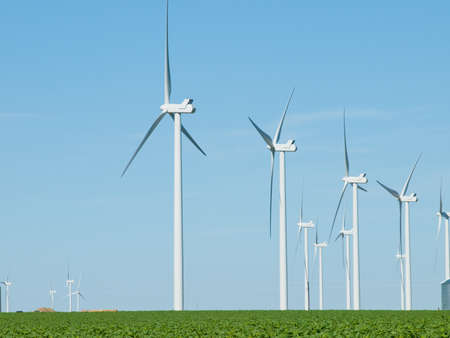 Wind turbines farm in Eastern Colorado. photo