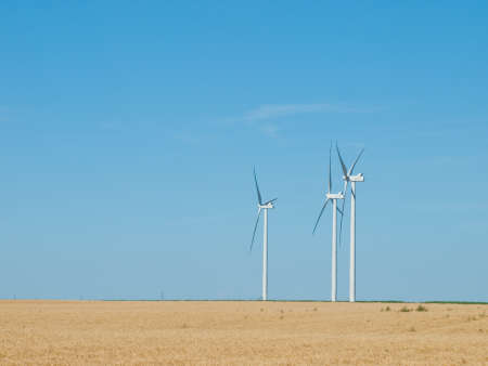 alternative transport: Wind turbines farm in Eastern Colorado.