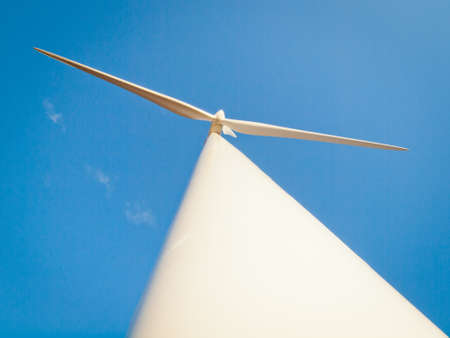 limon: Wind turbines farm at sunset in Limon, Colorado.