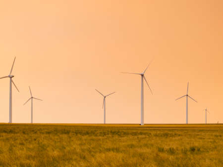 pawnee grassland: Windmill farm in Pawnee Buttes in northeastern Colorado.
