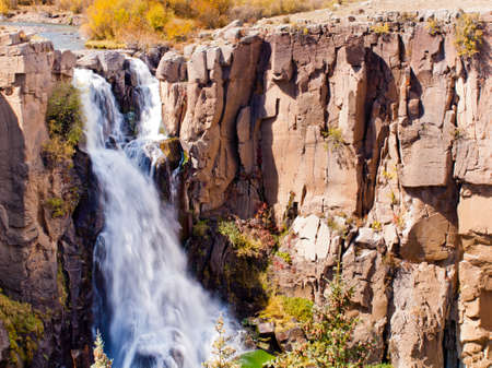 Autumn at North Clear Creek Water Falls in Colorado.