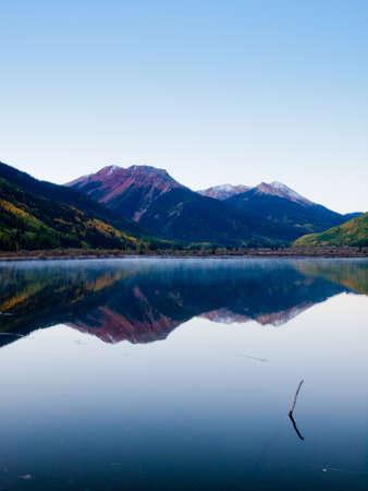ouray: Crystal Lake in autumn near Ouray, Colorado.