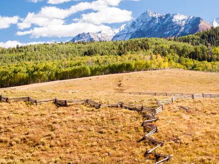Forgotten farm in autumn. photo