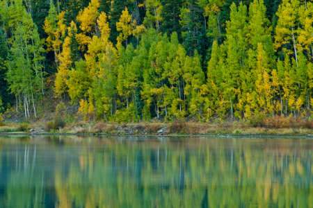 Crystal Lake in autumn near Ouray, Colorado. photo