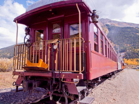 Durango to Silverton Narrow Gauge Train.  This train is in daily operation on the narrow gauge railroad between Durango and Silverton Colorado