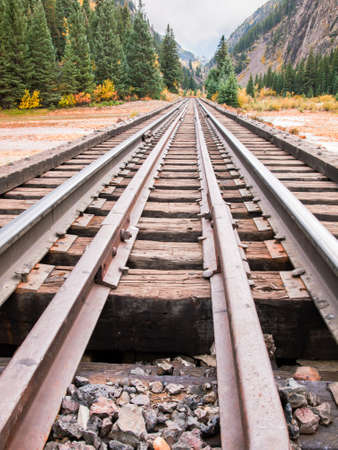 narrow gauge railroad: Railroad tracks. This train is in daily operation on the narrow gauge railroad between Durango and Silverton Colorado