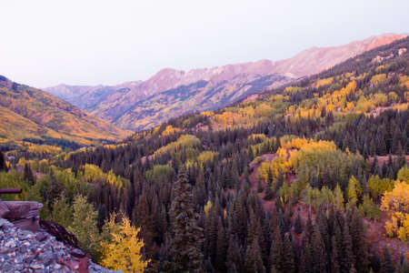 ouray: Red mountain and Yankee Girl Mine near Ouray, Colorado. Stock Photo