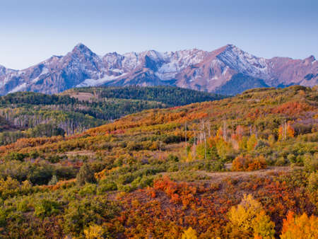 The Dallas Divide is a Colorado icon, well known for its vivid fall colors produced by scrub oak and aspens. photo