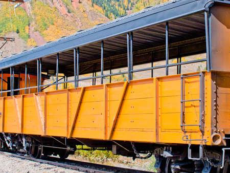 narrow gauge railroad: Durango to Silverton Narrow Gauge Train.  This train is in daily operation on the narrow gauge railroad between Durango and Silverton Colorado