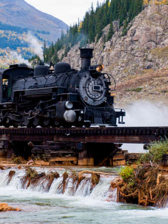 carpathian mountains: Steam locomotive engine. This train is in daily operation on the narrow gauge railroad between Durango and Silverton Colorado