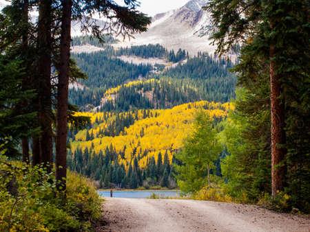 lost lake: Mountain road near the Lost Lake, Colorado.